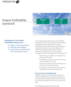 Project Profitability Scorecard