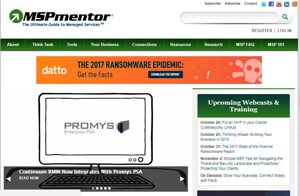 Media Review MSPMentor on Promys PSA & Continuum RMM integration
